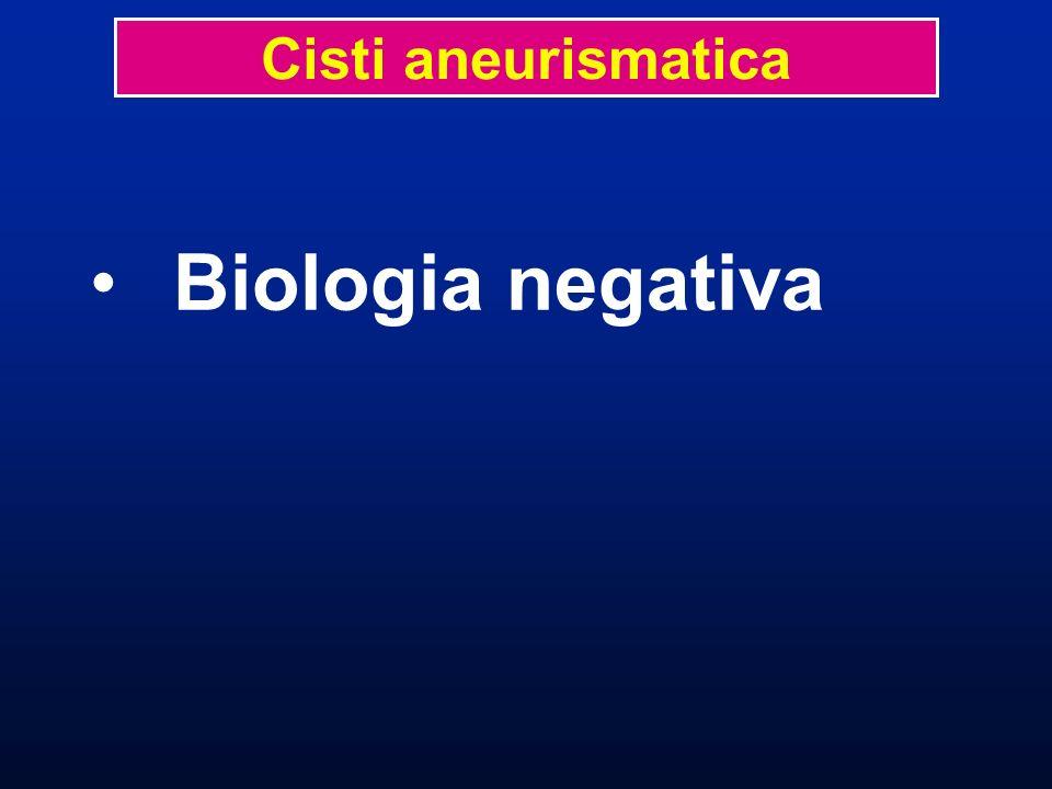 Cisti aneurismatica Biologia negativa