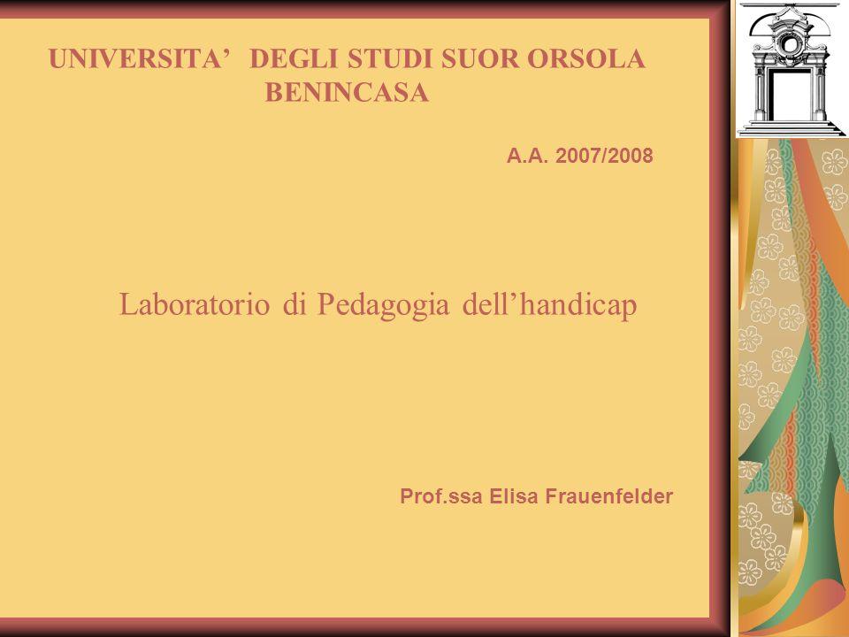 UNIVERSITA' DEGLI STUDI SUOR ORSOLA BENINCASA
