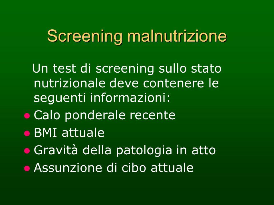Screening malnutrizione