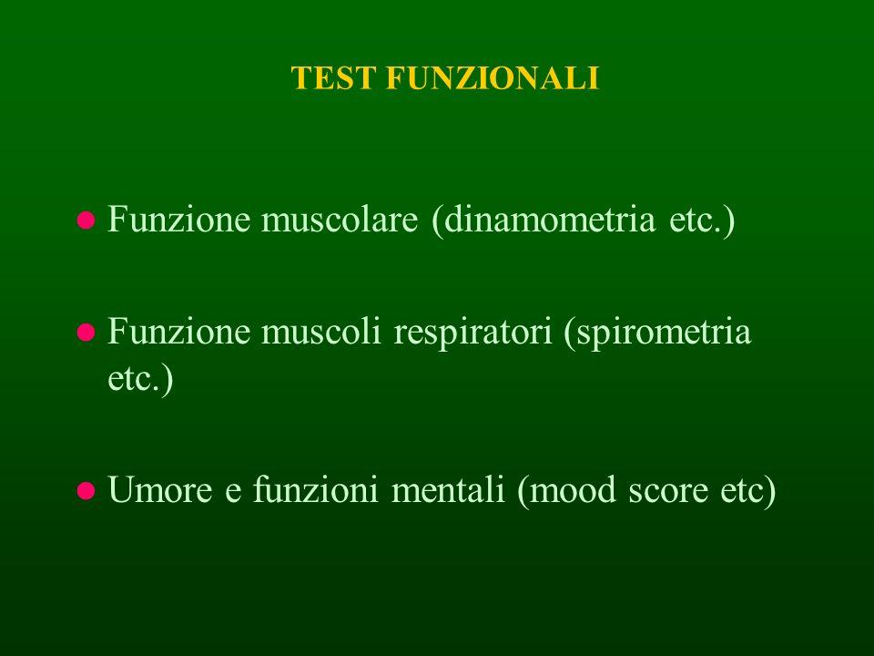 Funzione muscolare (dinamometria etc.)