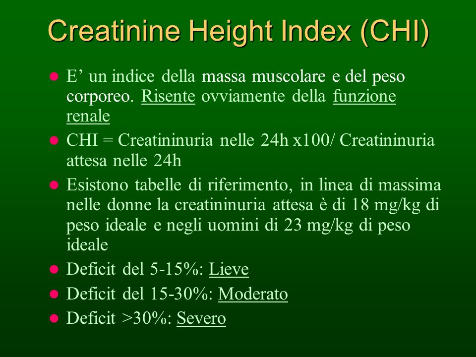 Creatinine Height Index (CHI)