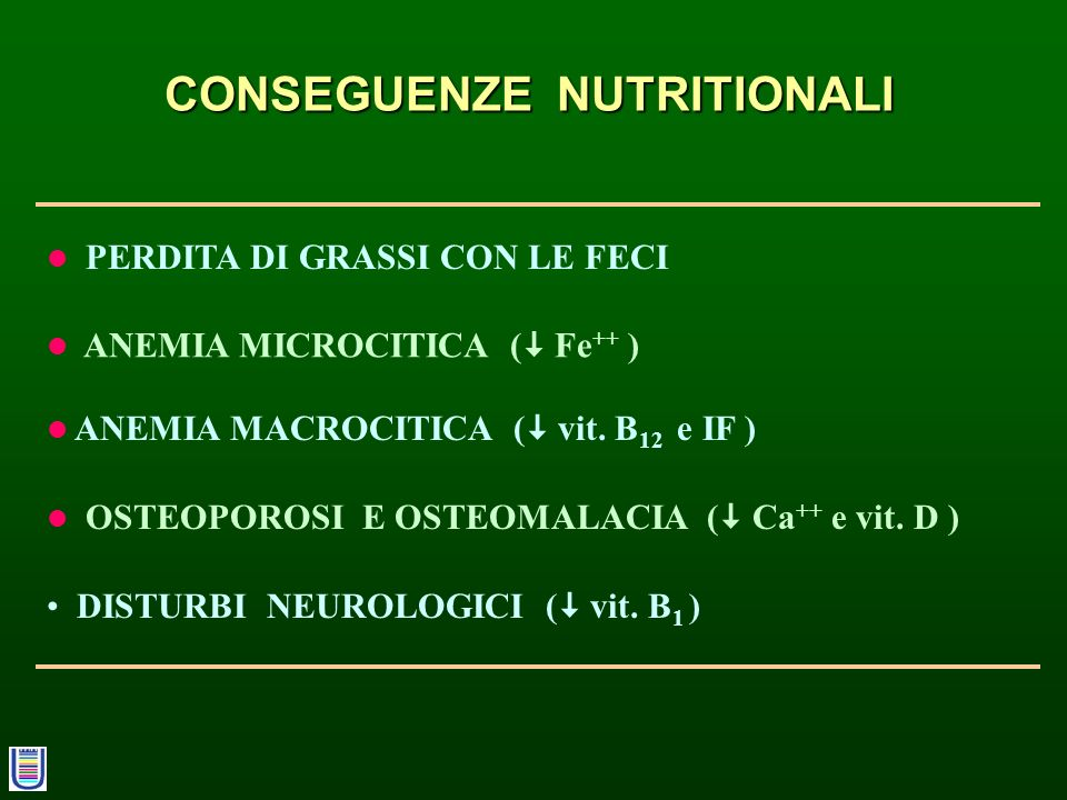 CONSEGUENZE NUTRITIONALI