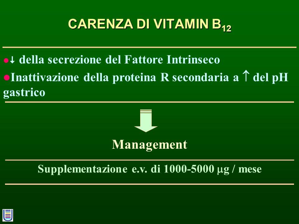 Supplementazione e.v. di 1000-5000 g / mese
