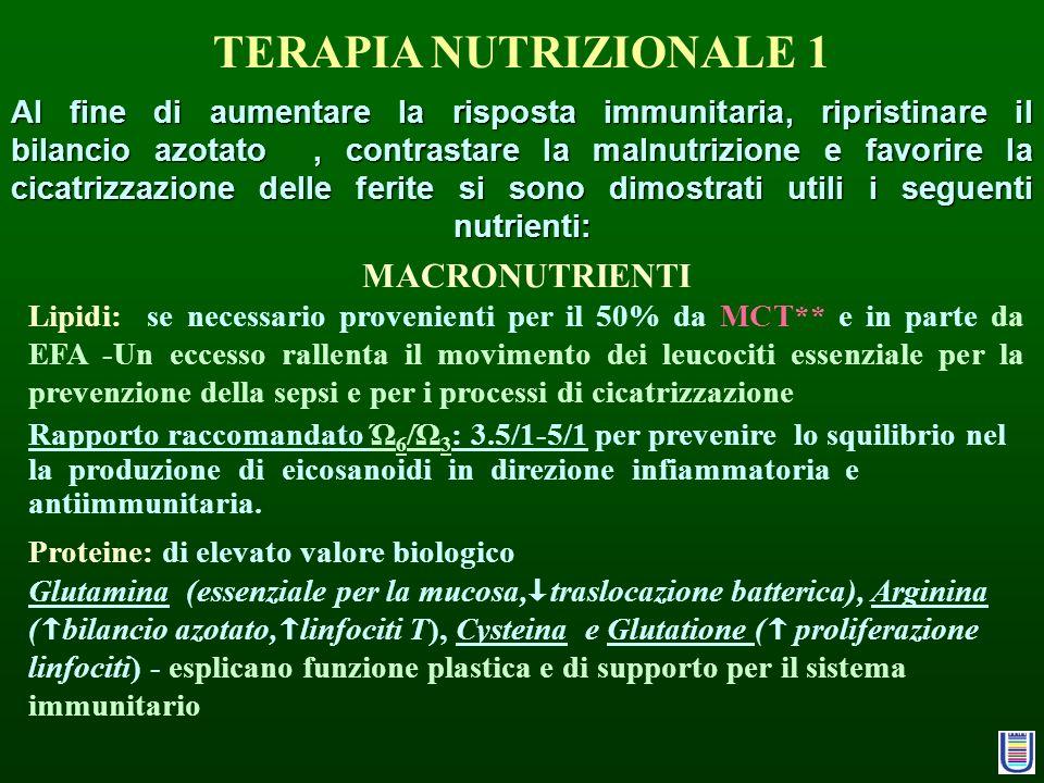 TERAPIA NUTRIZIONALE 1 MACRONUTRIENTI