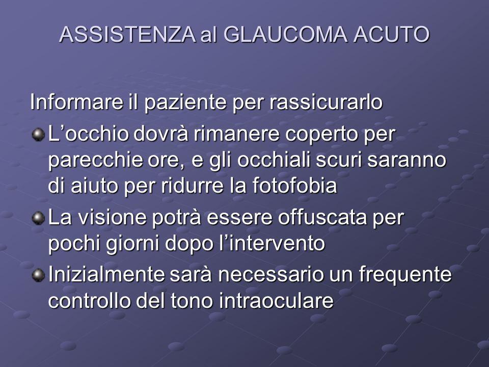 ASSISTENZA al GLAUCOMA ACUTO