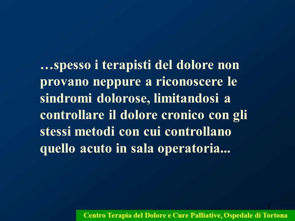 Centro Terapia del Dolore e Cure Palliative, Ospedale di Tortona