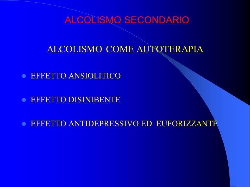 ALCOLISMO COME AUTOTERAPIA