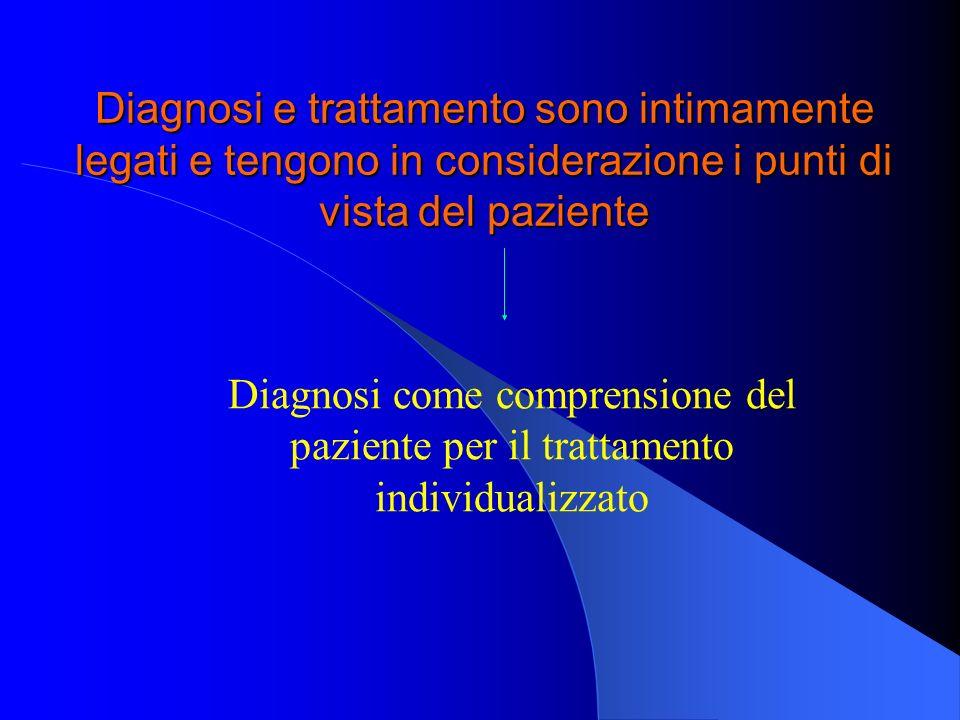 Diagnosi e trattamento sono intimamente legati e tengono in considerazione i punti di vista del paziente