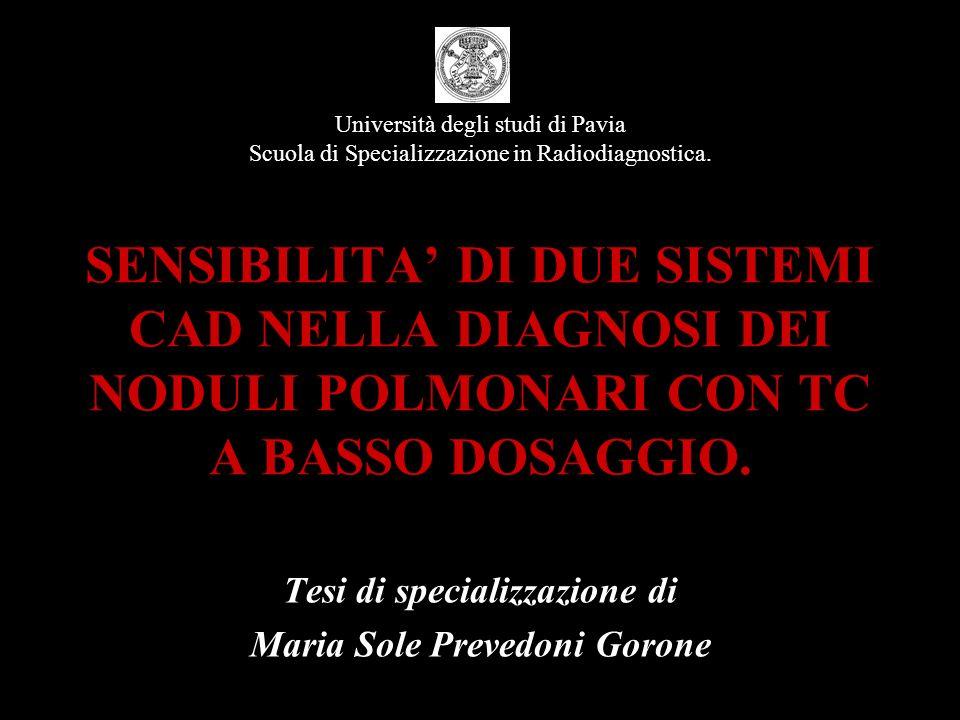Tesi di specializzazione di Maria Sole Prevedoni Gorone