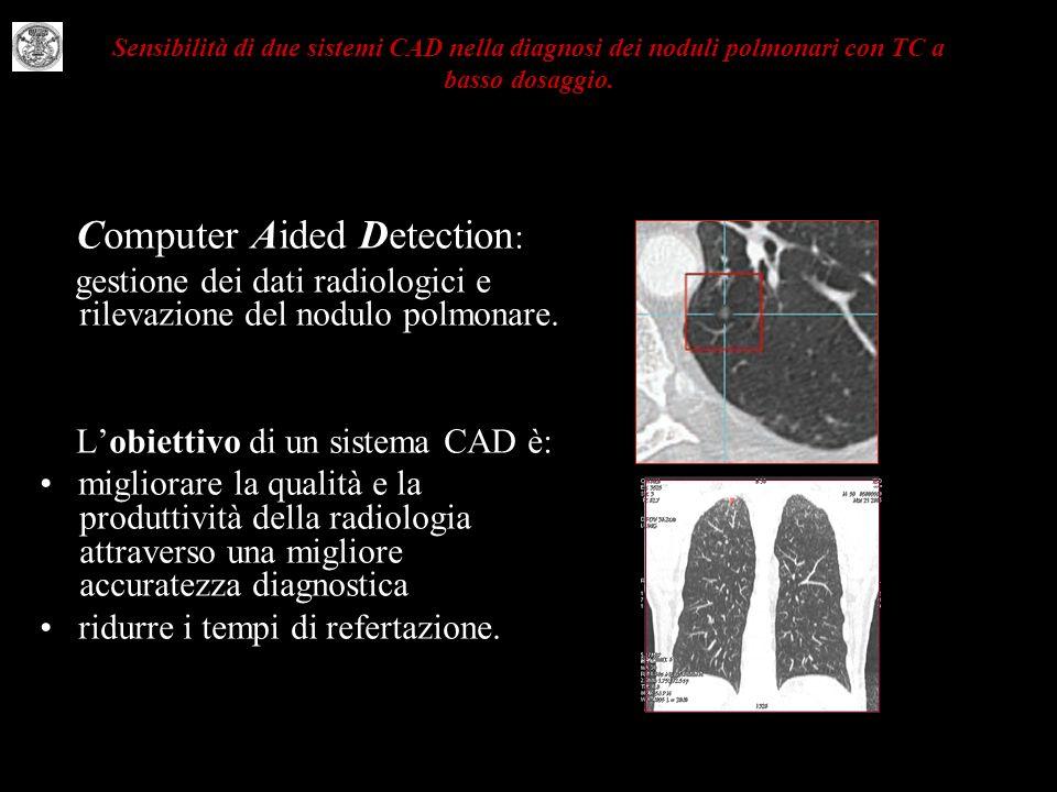 gestione dei dati radiologici e rilevazione del nodulo polmonare.