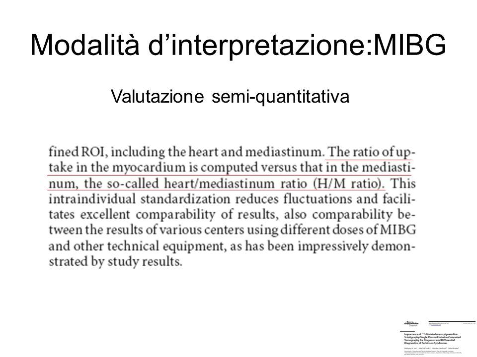 Modalità d'interpretazione:MIBG
