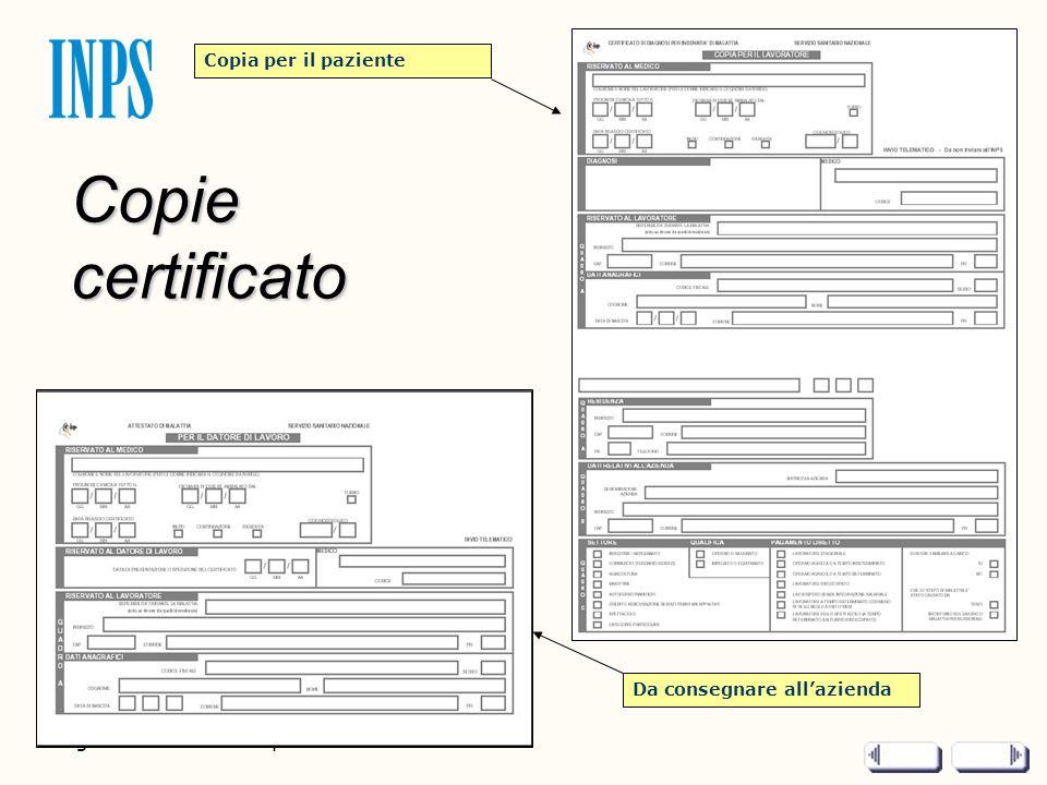 Copie certificato Pagina 2 di 2 - Titolo presentazione