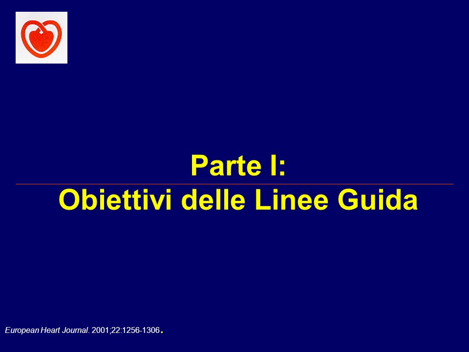 Parte I: Obiettivi delle Linee Guida