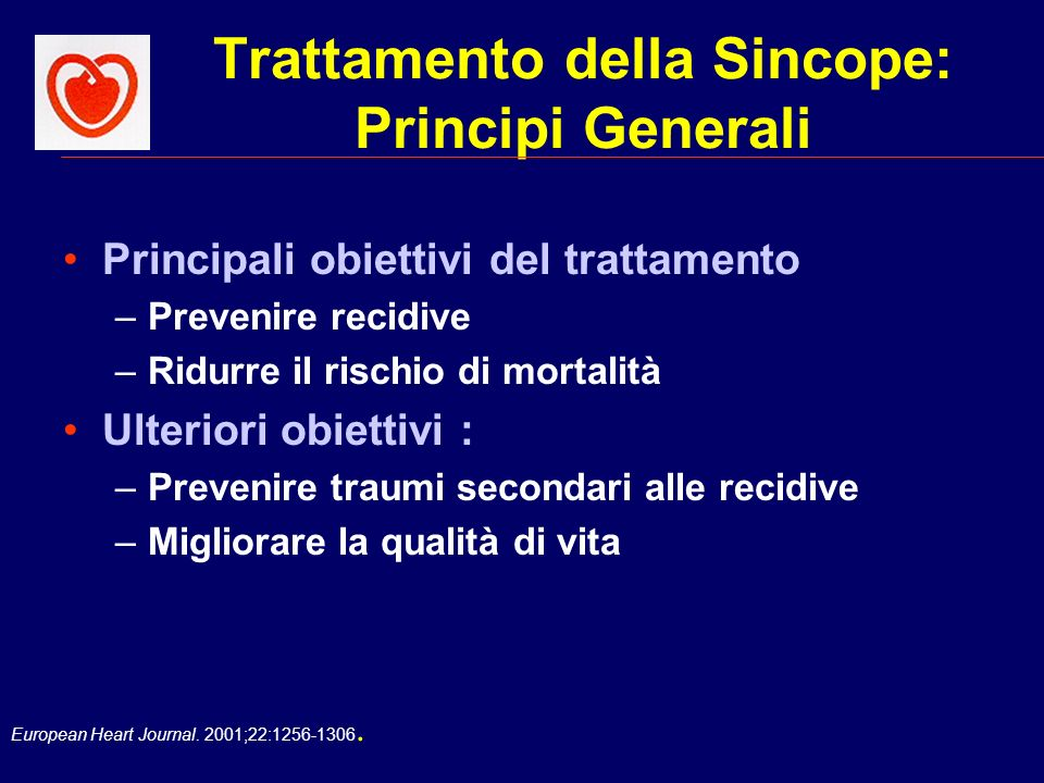 Trattamento della Sincope: Principi Generali