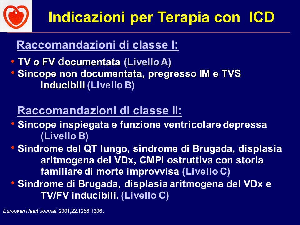 Indicazioni per Terapia con ICD