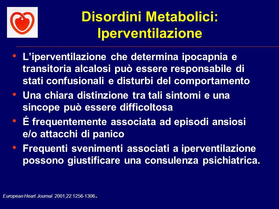 Disordini Metabolici: Iperventilazione