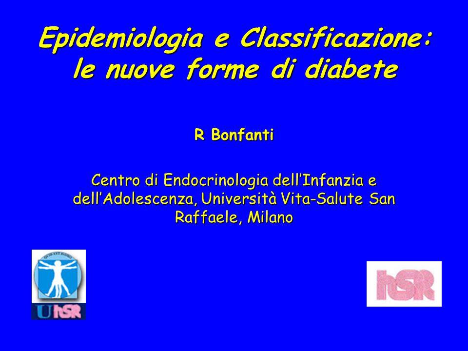 Epidemiologia e Classificazione: le nuove forme di diabete