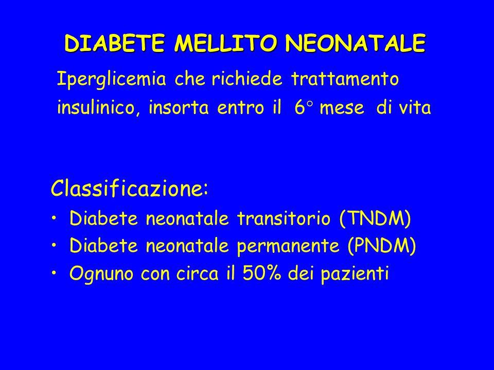 DIABETE MELLITO NEONATALE