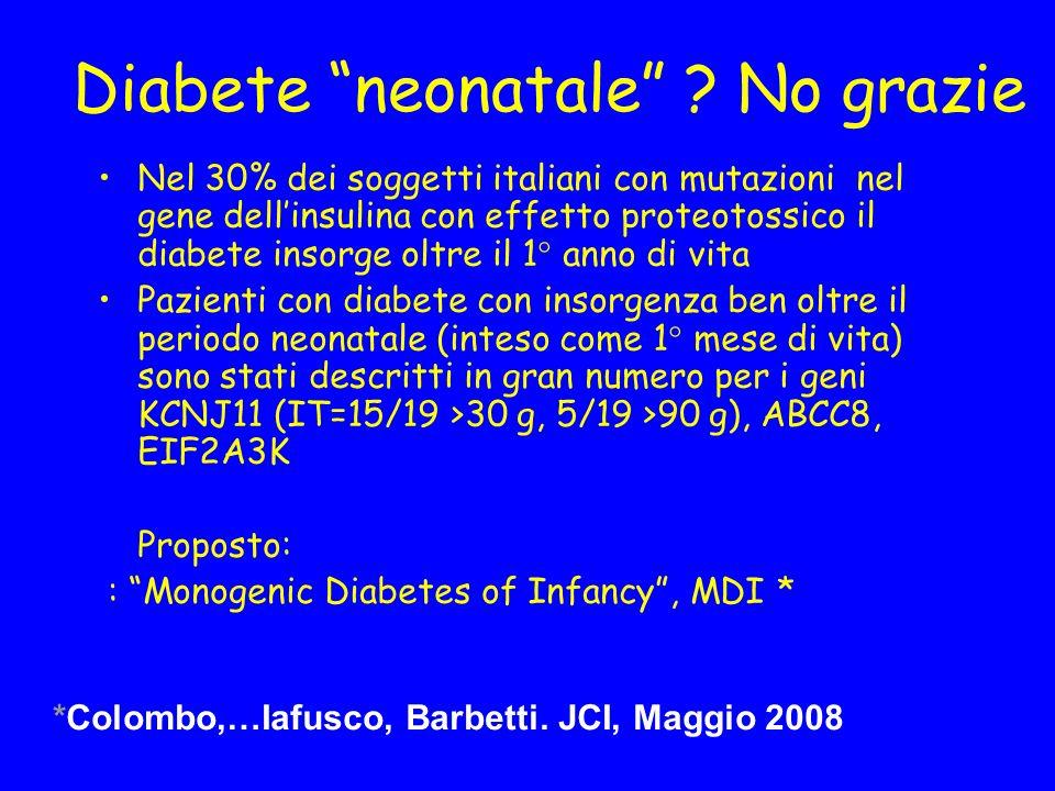 Diabete neonatale No grazie