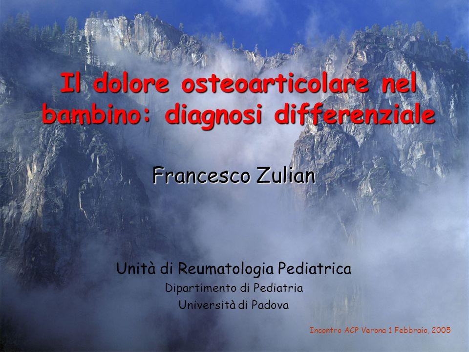 Il dolore osteoarticolare nel bambino: diagnosi differenziale