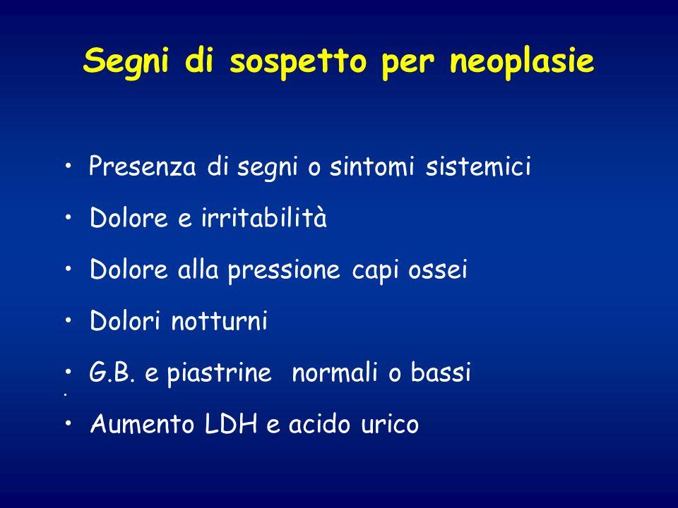 Segni di sospetto per neoplasie