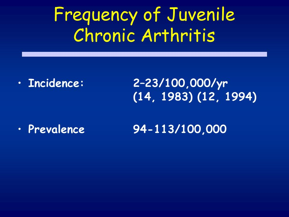 Frequency of Juvenile Chronic Arthritis