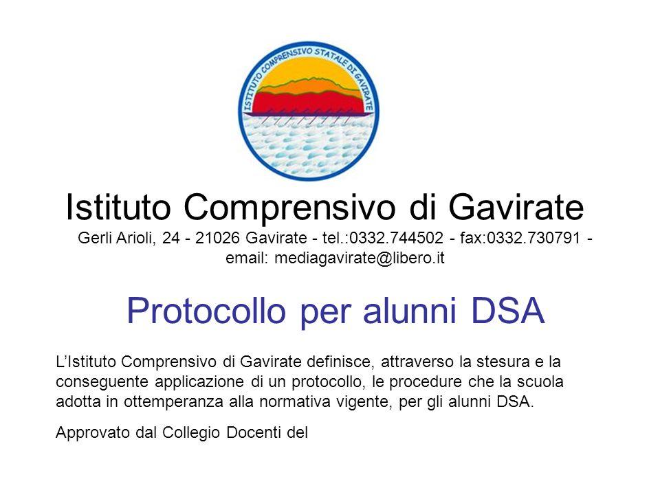 Protocollo per alunni DSA
