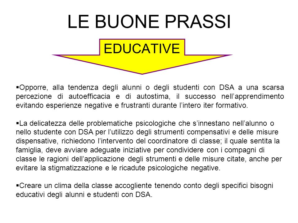 LE BUONE PRASSI EDUCATIVE