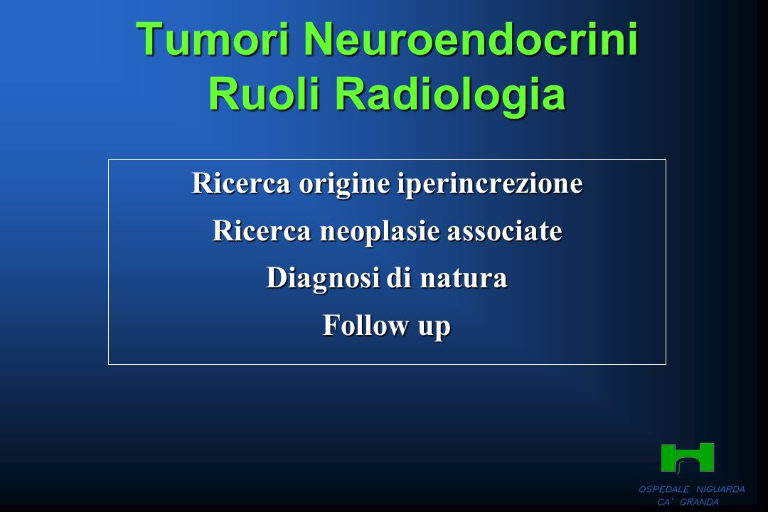 Tumori Neuroendocrini Ruoli Radiologia