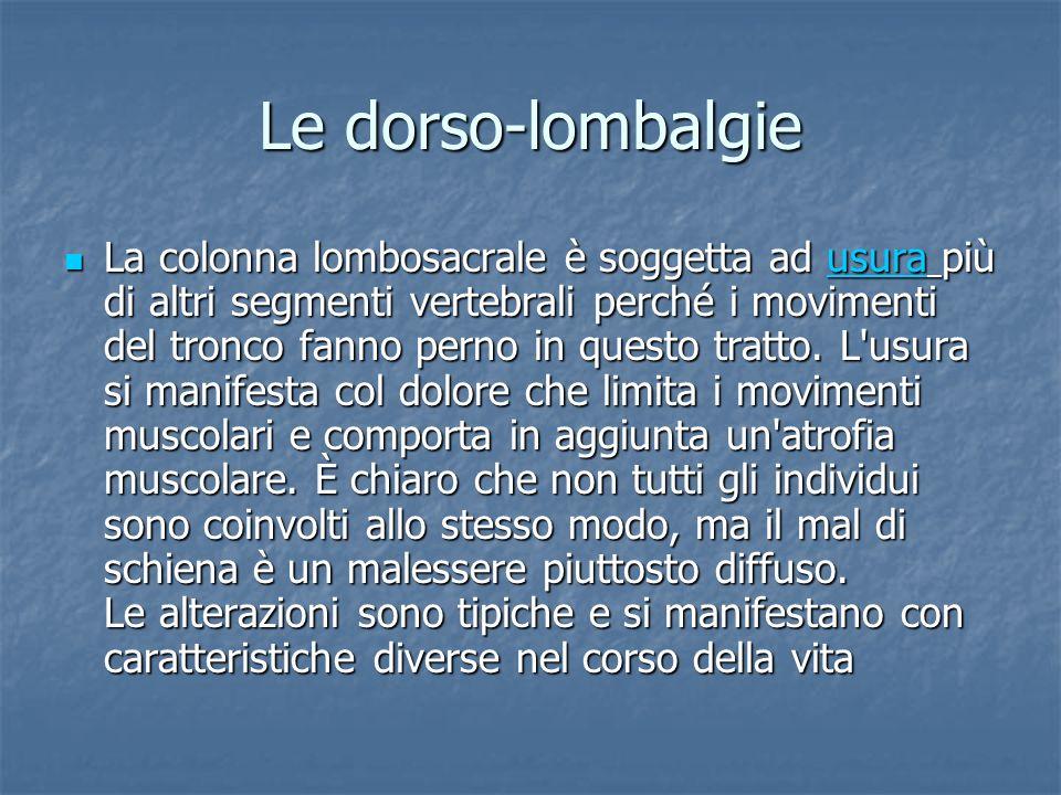 Le dorso-lombalgie