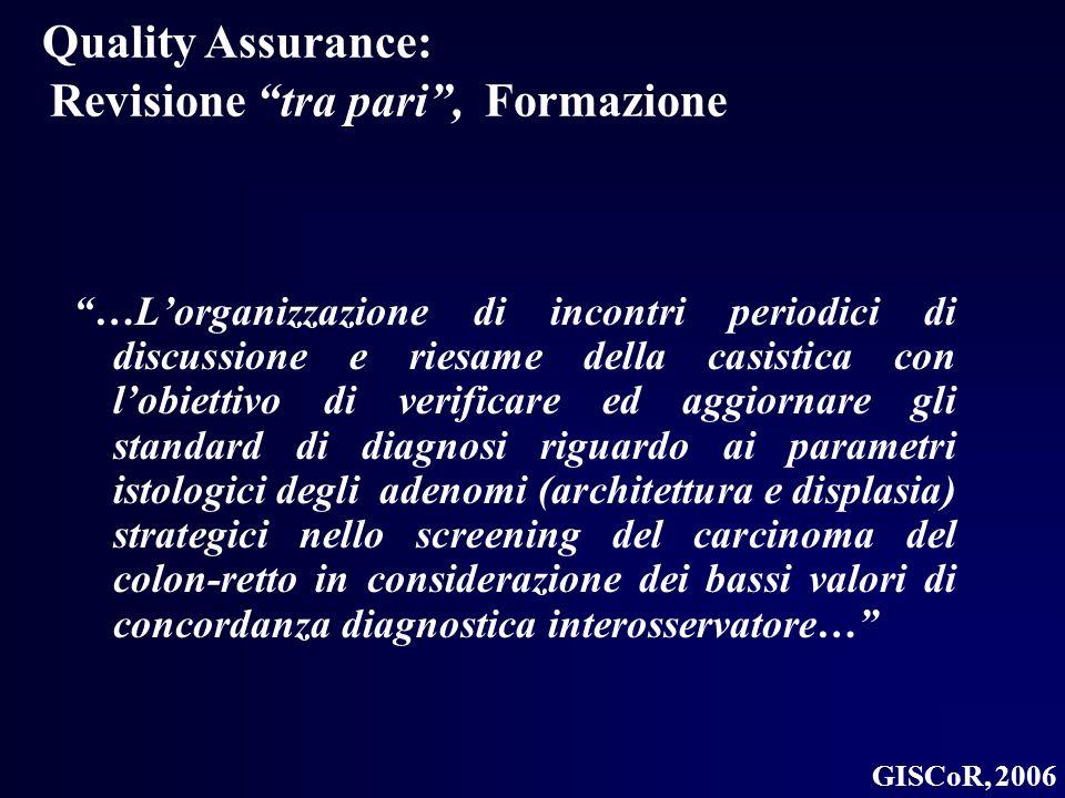Quality Assurance: Revisione tra pari , Formazione