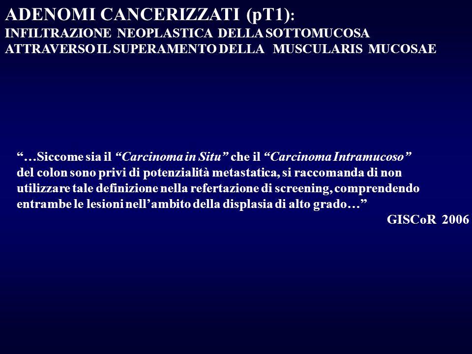 ADENOMI CANCERIZZATI (pT1):