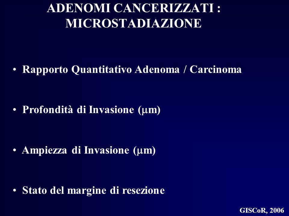 ADENOMI CANCERIZZATI : MICROSTADIAZIONE
