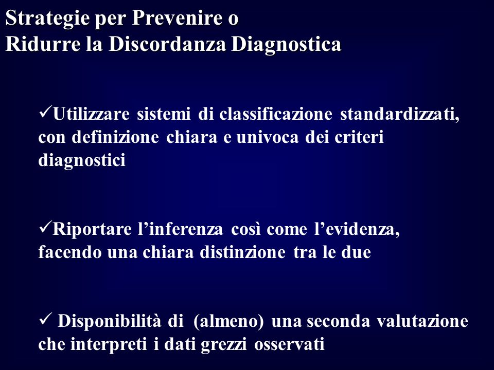 Strategie per Prevenire o Ridurre la Discordanza Diagnostica