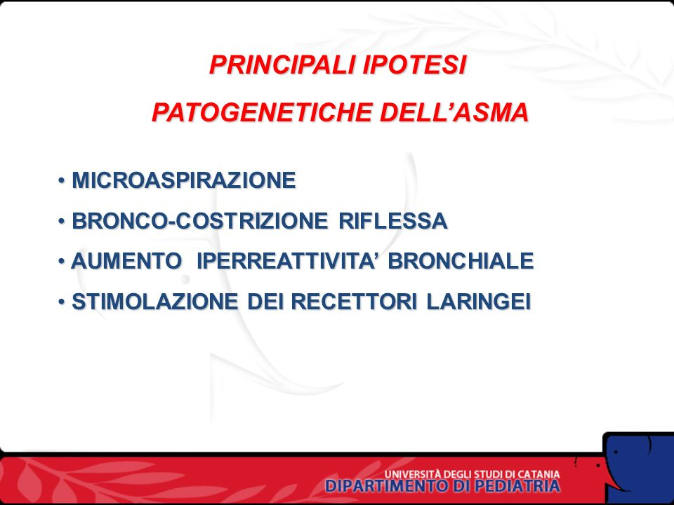 PATOGENETICHE DELL'ASMA