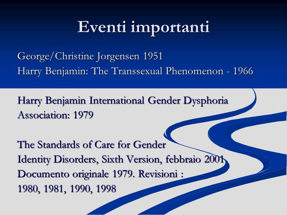 Eventi importanti George/Christine Jorgensen 1951