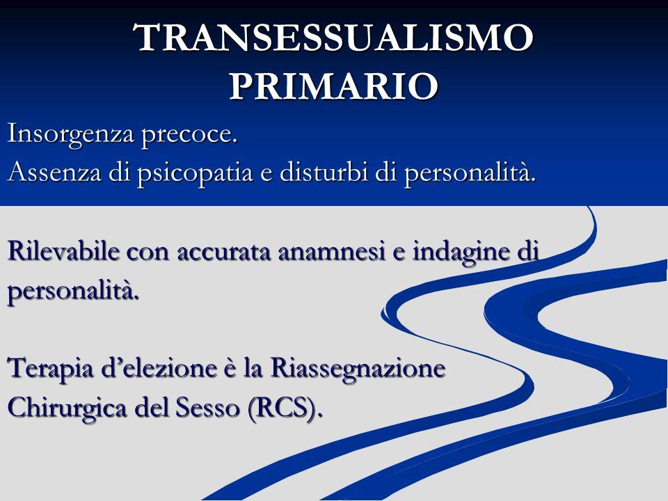 TRANSESSUALISMO PRIMARIO