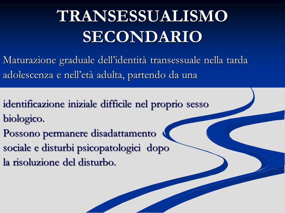 TRANSESSUALISMO SECONDARIO