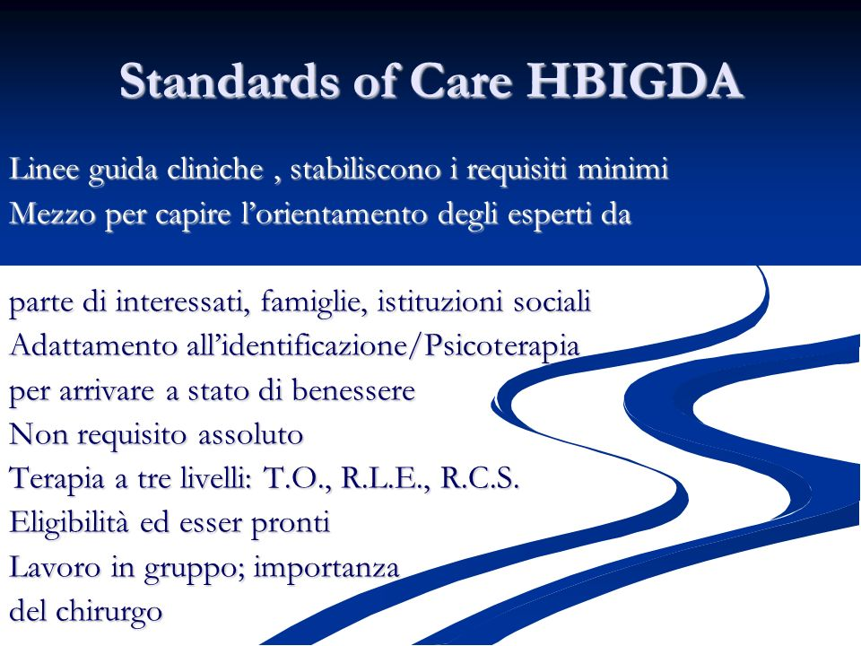 Standards of Care HBIGDA
