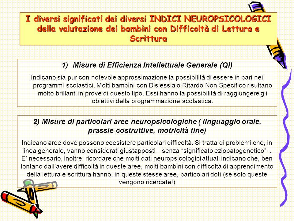 Misure di Efficienza Intellettuale Generale (QI)