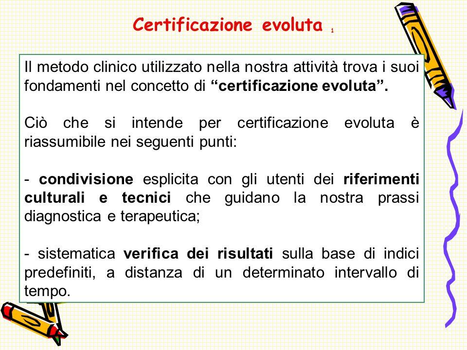 Certificazione evoluta 1