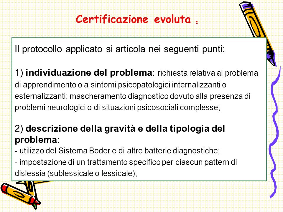 Certificazione evoluta 2