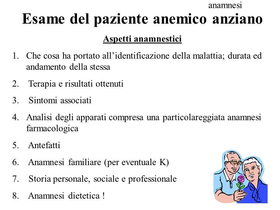 Esame del paziente anemico anziano