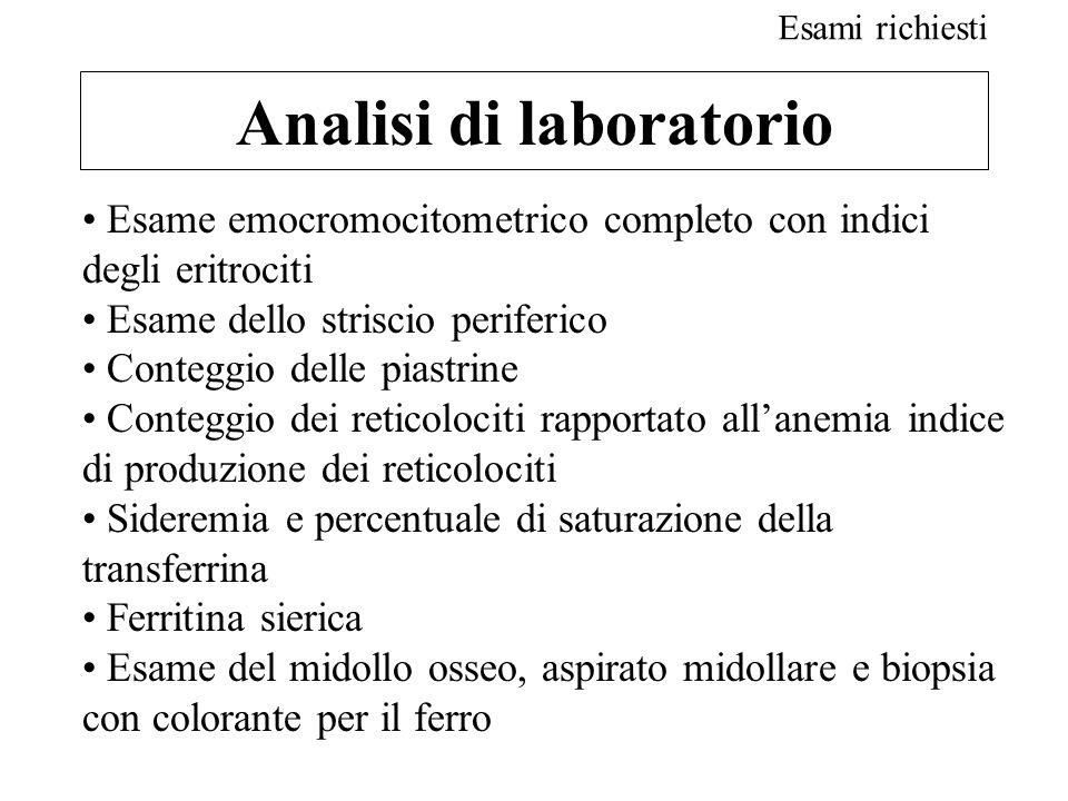 Analisi di laboratorio