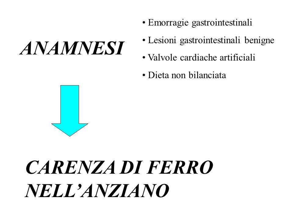 CARENZA DI FERRO NELL'ANZIANO