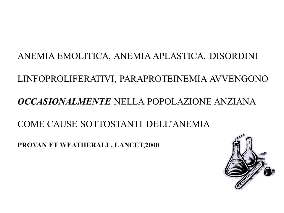 ANEMIA EMOLITICA, ANEMIA APLASTICA, DISORDINI