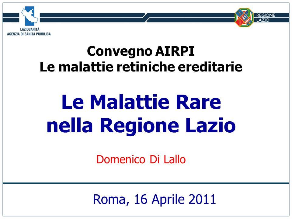 Convegno AIRPI Le malattie retiniche ereditarie