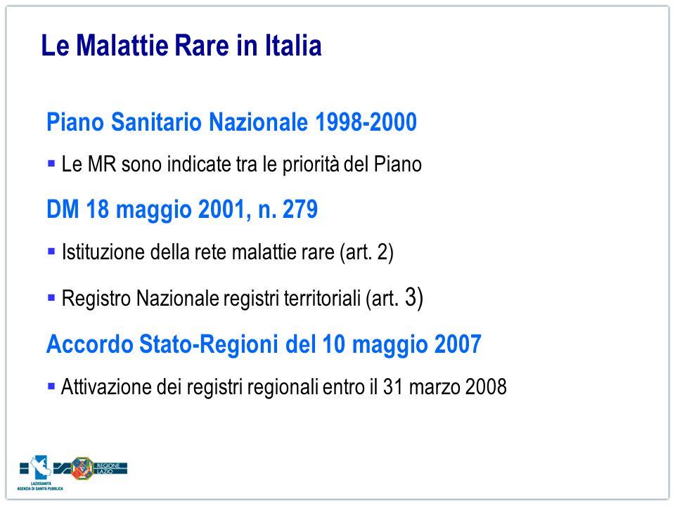Le Malattie Rare in Italia