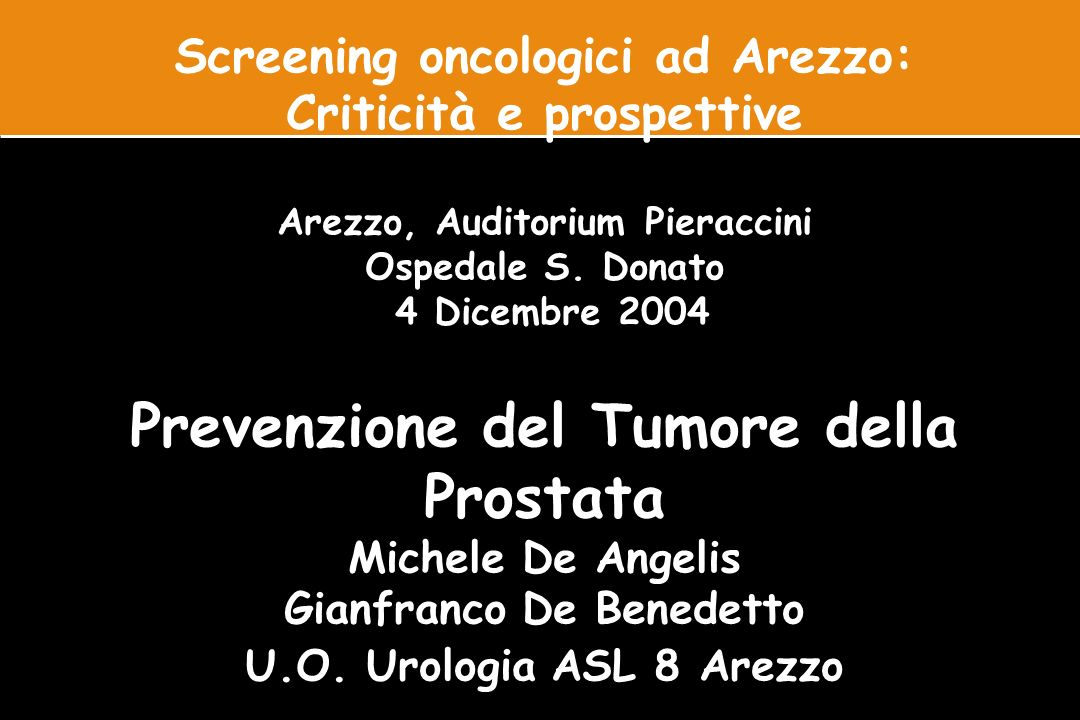 Prevenzione del Tumore della Prostata
