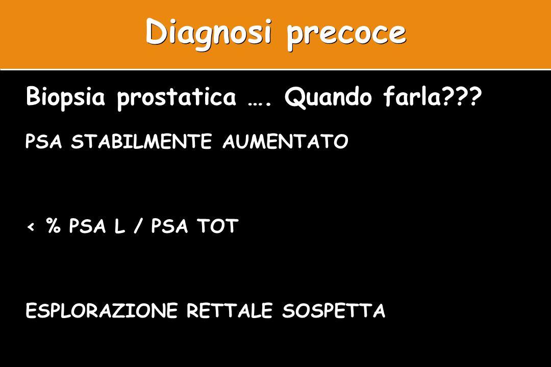 Diagnosi precoce Biopsia prostatica …. Quando farla